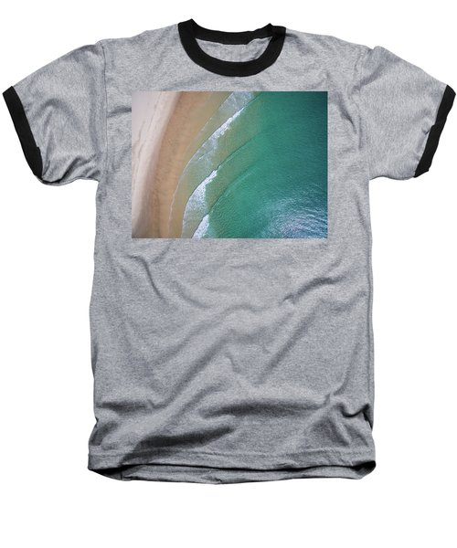 Ocean Waves Upon The Beach Baseball T-Shirt