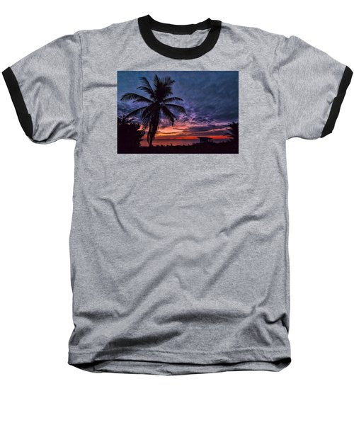 Oceanfront Before Sunrise Baseball T-Shirt