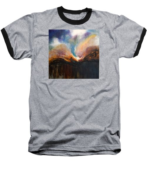 Oceans Apart Baseball T-Shirt by Theresa Marie Johnson