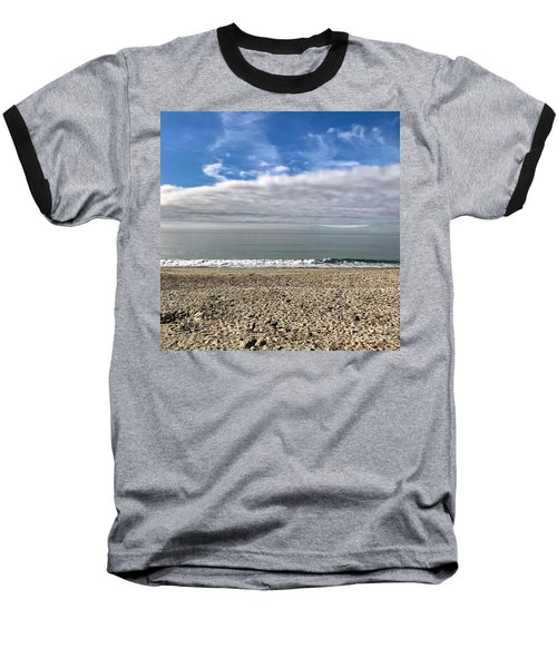 Baseball T-Shirt featuring the photograph Ocean's Edge by Kim Nelson