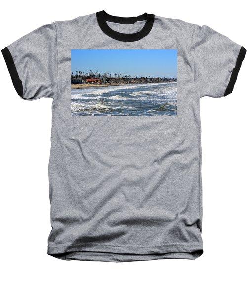 Baseball T-Shirt featuring the photograph Oceanside by AJ Schibig