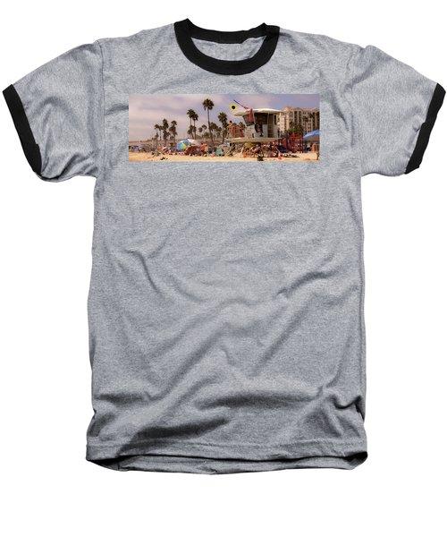 Oceanside Beach Baseball T-Shirt