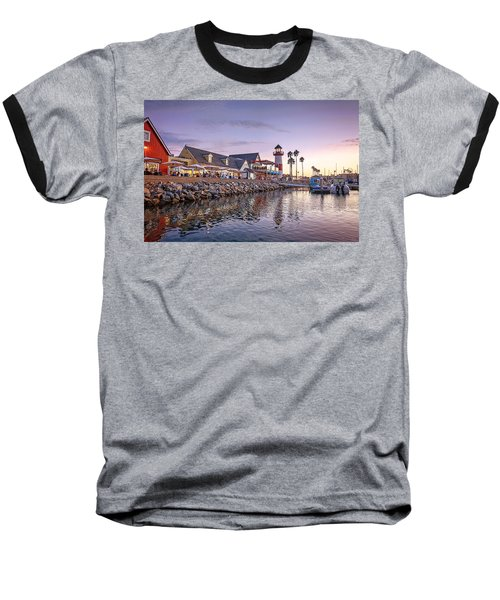 Oceanside Harbor Baseball T-Shirt by Ann Patterson