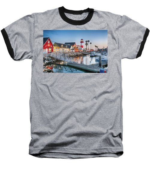 Oceanside Harbor Village At Dusk Baseball T-Shirt
