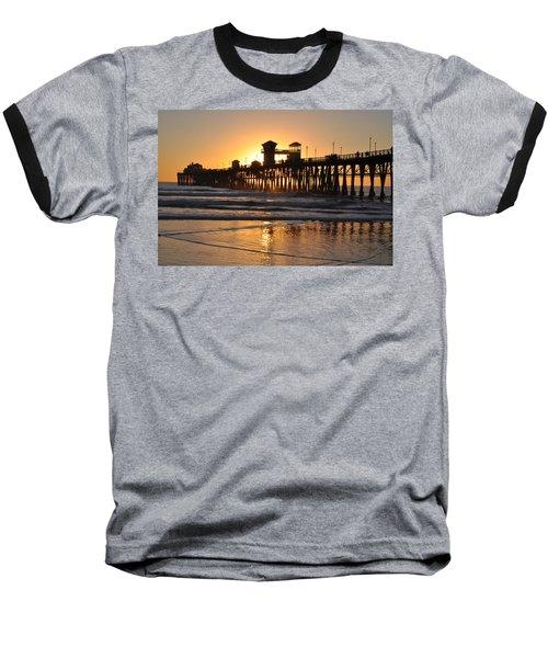 Oceanside Pier Baseball T-Shirt