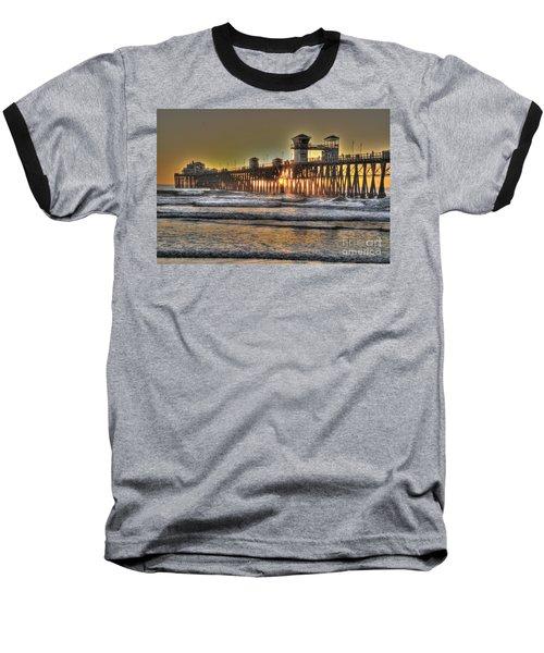 Oceanside Pier Hdr  Baseball T-Shirt