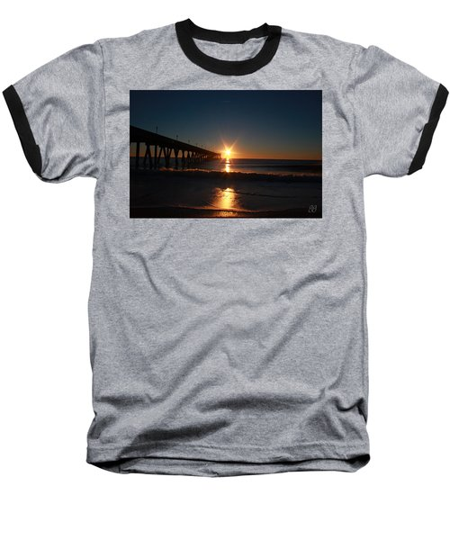 Baseball T-Shirt featuring the photograph Oceanview Sunrise by Geri Glavis