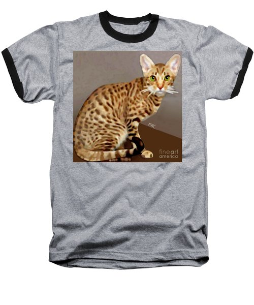 Ocicat Baseball T-Shirt by Marian Cates