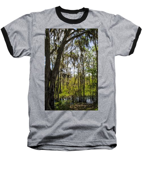 Ocklawaha Spanish Moss In The Swamp Baseball T-Shirt