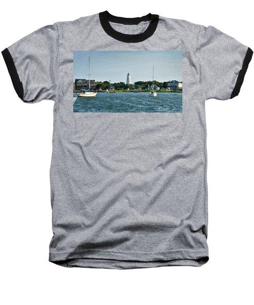 Ocracoke Island Lighthouse From Silver Lake Baseball T-Shirt