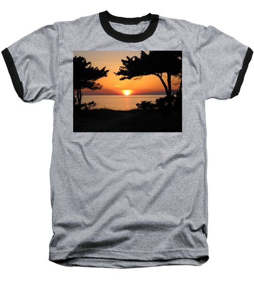 Ocracoke Island Winter Sunset Baseball T-Shirt