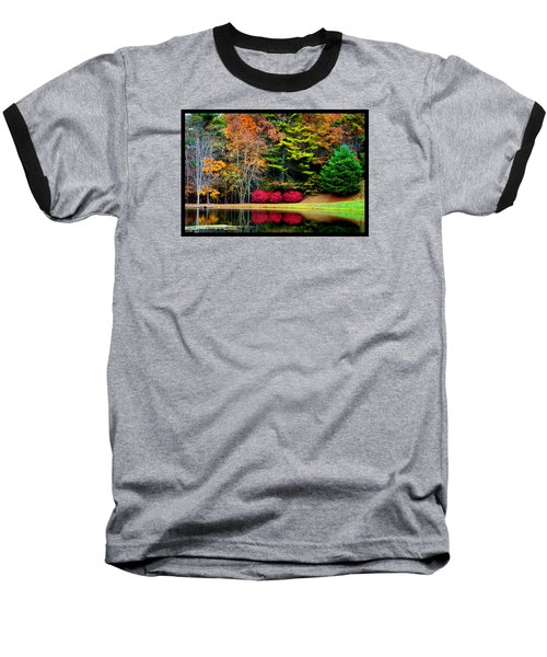 October Afternoon In The Blue Ridge Mountains Baseball T-Shirt by Susanne Still