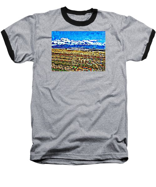 October Clouds Over Spanish Peaks Baseball T-Shirt