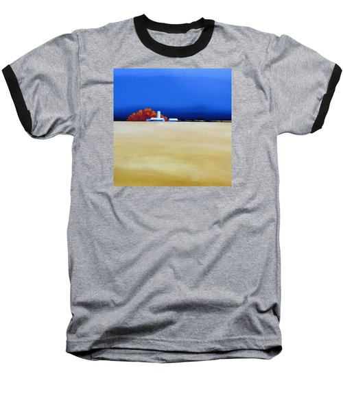 Baseball T-Shirt featuring the painting October Fields by Jo Appleby