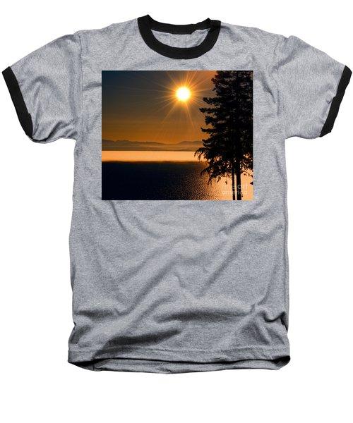 October Fog Baseball T-Shirt by Elaine Hunter