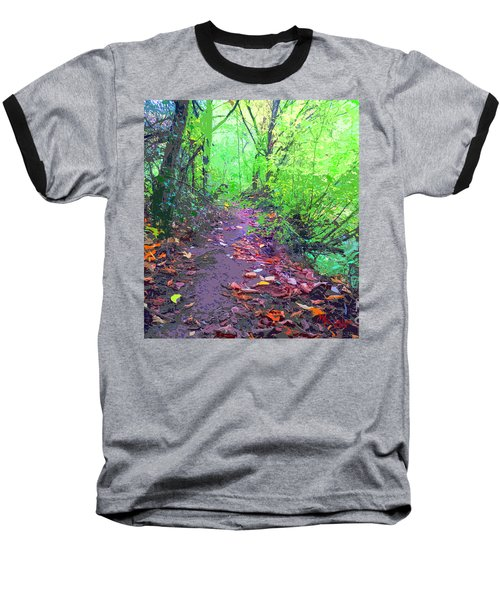 October Forest Pathway Baseball T-Shirt