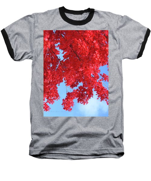 October In The Valley - Fire In The Sky Baseball T-Shirt