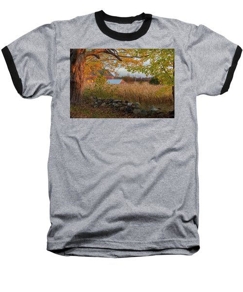 Baseball T-Shirt featuring the photograph October Morning 2016 by Bill Wakeley