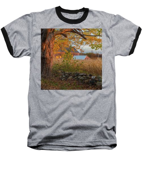 Baseball T-Shirt featuring the photograph October Morning 2016 Square by Bill Wakeley