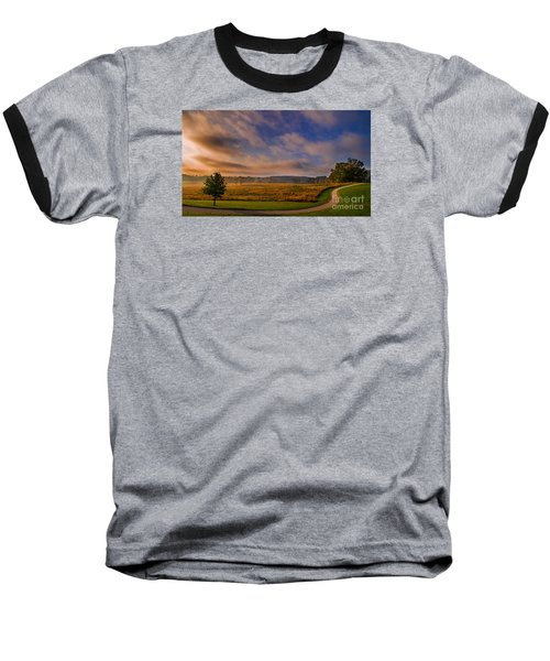 October Morning At Valley Forge Baseball T-Shirt by Rima Biswas