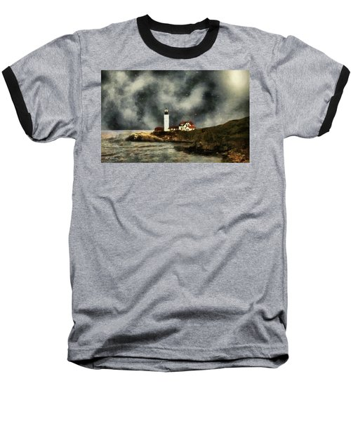 October Night, Portland Head Baseball T-Shirt