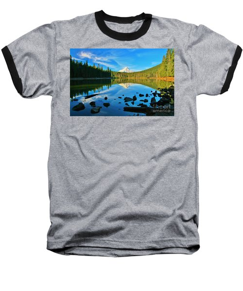 October On The Lake Baseball T-Shirt by Sheila Ping