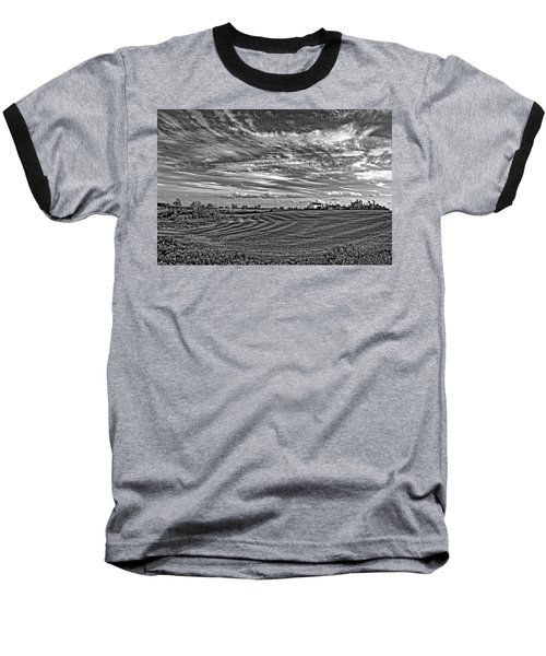 October Patterns Bw Baseball T-Shirt