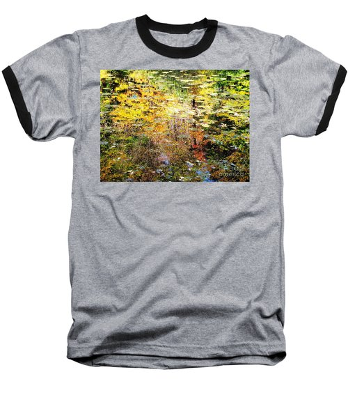 Baseball T-Shirt featuring the photograph October Pond by Melissa Stoudt