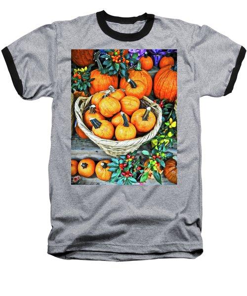 October Pumpkins Baseball T-Shirt