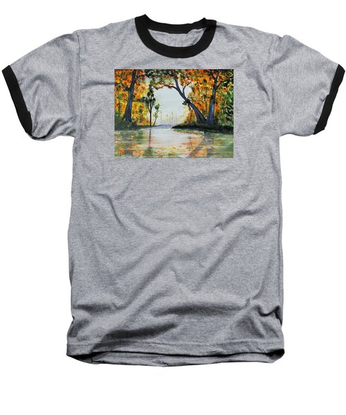 October Reflections Baseball T-Shirt by Jack G  Brauer