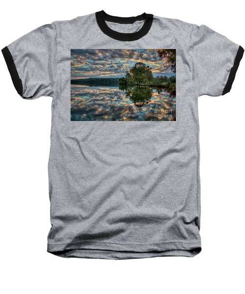 Baseball T-Shirt featuring the photograph October Skies by Douglas Stucky