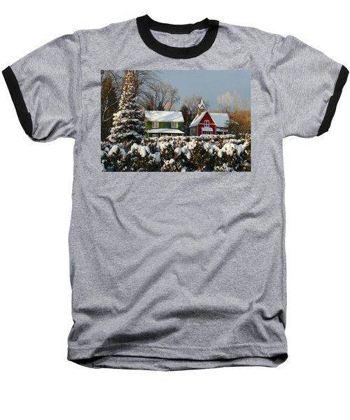 October Snow Baseball T-Shirt