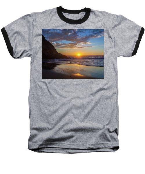 October Sunset Strands Beach Baseball T-Shirt