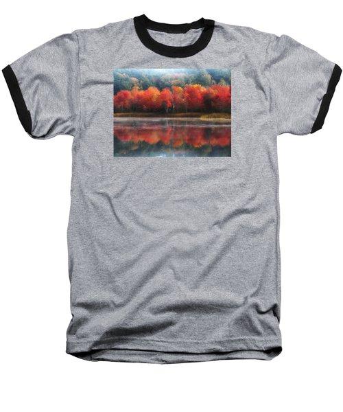 October Trees - Autumn  Baseball T-Shirt by MTBobbins Photography