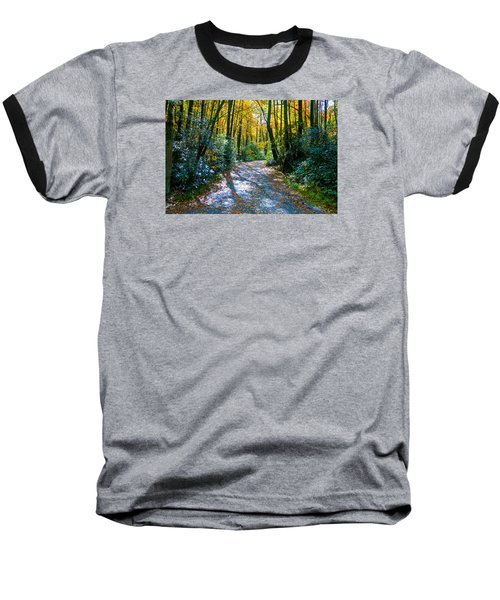 October's Path Baseball T-Shirt by Allen Carroll