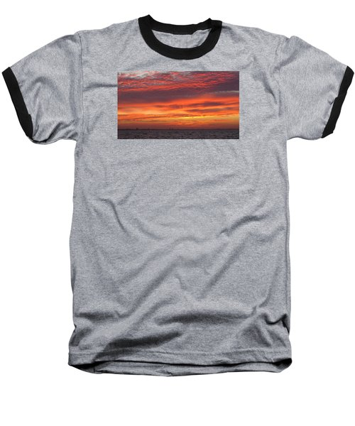 Baseball T-Shirt featuring the photograph October's Sunrise On Sanibel Island by Melinda Saminski