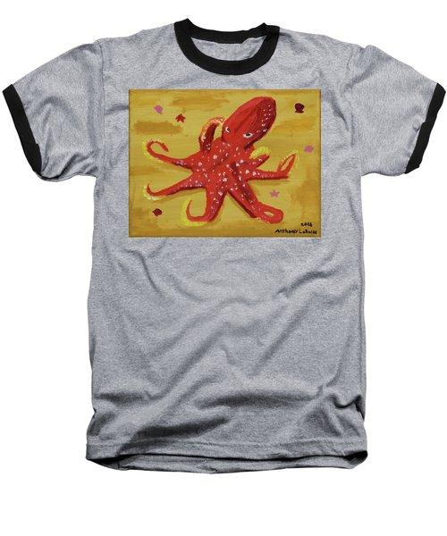 Octopus Baseball T-Shirt by Anthony LaRocca