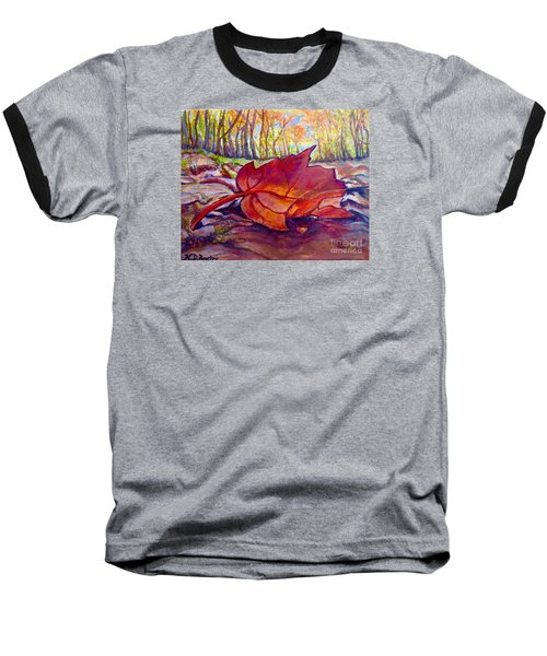 Baseball T-Shirt featuring the painting Ode To A Fallen Leaf Painting by Kimberlee Baxter