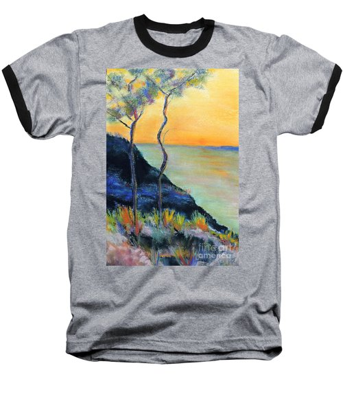 Baseball T-Shirt featuring the pastel Ode To Monet by Jodie Marie Anne Richardson Traugott          aka jm-ART