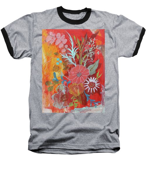 Baseball T-Shirt featuring the painting Ode To Spring by Robin Maria Pedrero