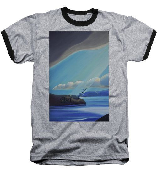 Ode To The North II - Left Panel Baseball T-Shirt
