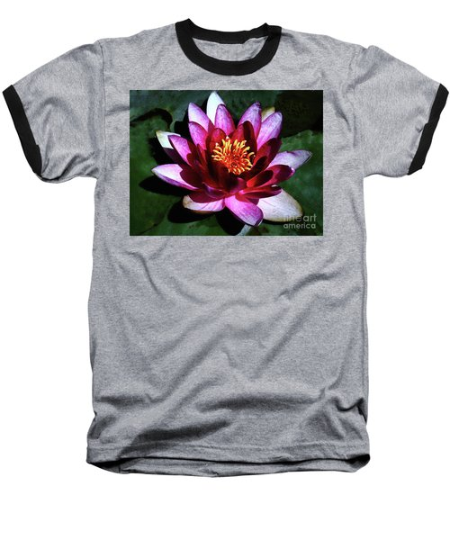 Baseball T-Shirt featuring the photograph Ode To The Water Lily by Polly Peacock