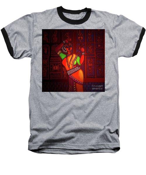 Odissi Dancer Baseball T-Shirt by Latha Gokuldas Panicker