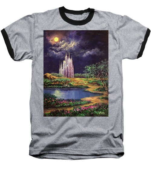 Of Glass Castles And Moonlight Baseball T-Shirt