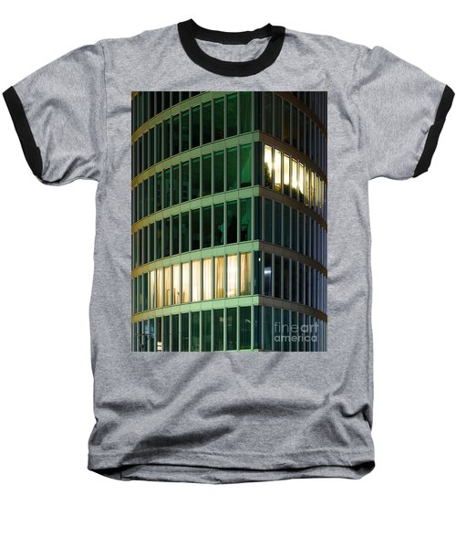 Office Building At Night Baseball T-Shirt