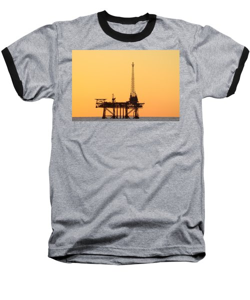 Offshore Oil And Gas Platform  Baseball T-Shirt