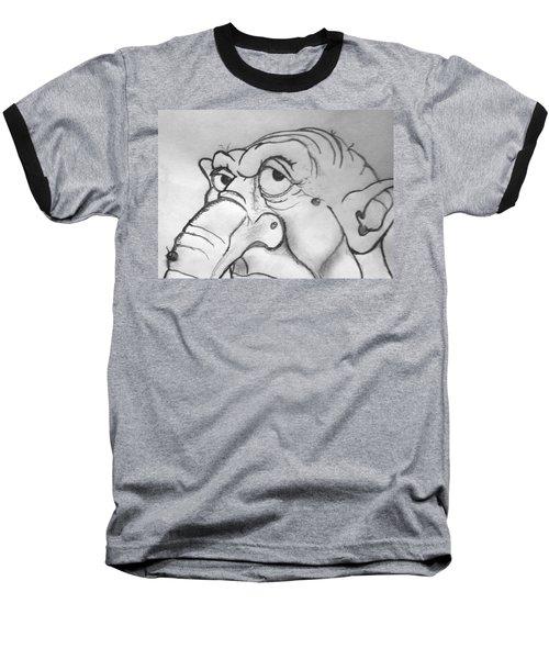 Ogre Sketch Baseball T-Shirt by Yshua The Painter
