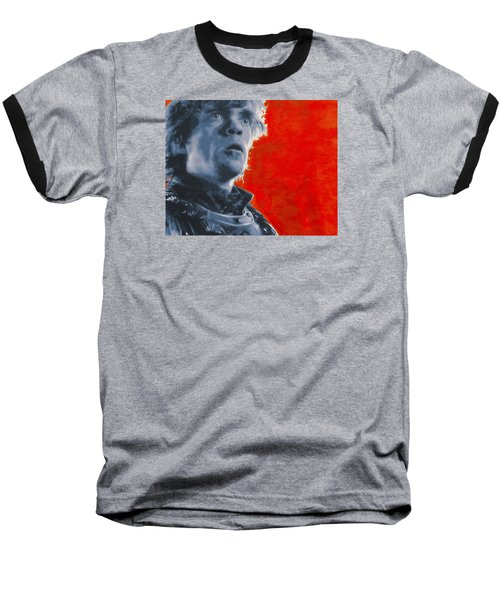 Baseball T-Shirt featuring the painting Tyrion Lannister by Luis Ludzska