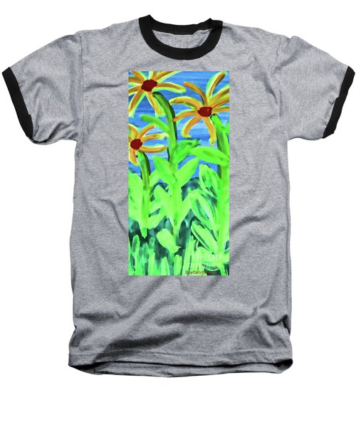 Oh Glorious Day Floral Baseball T-Shirt
