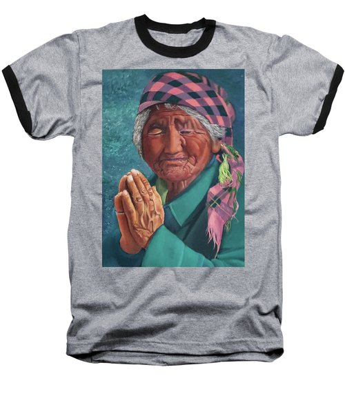 Oh Great Spirit, Hear My Prayer Baseball T-Shirt